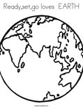 Ready,set,go loves  EARTH Coloring Page