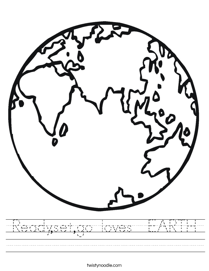 Ready,set,go loves  EARTH Worksheet