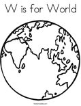 W is for WorldColoring Page