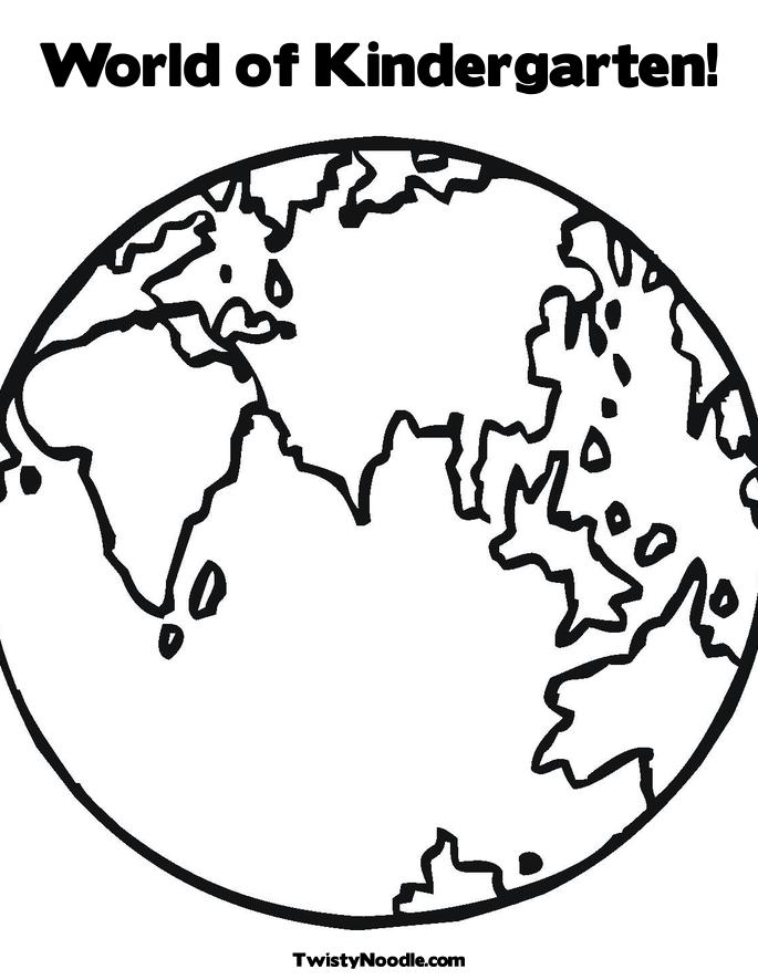 earth day coloring pages kindergarten. Earth Coloring Page.