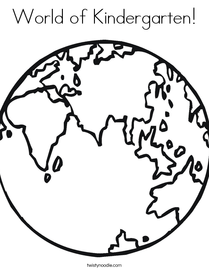 world of kindergarten coloring page