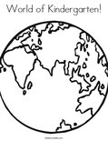 World of Kindergarten! Coloring Page
