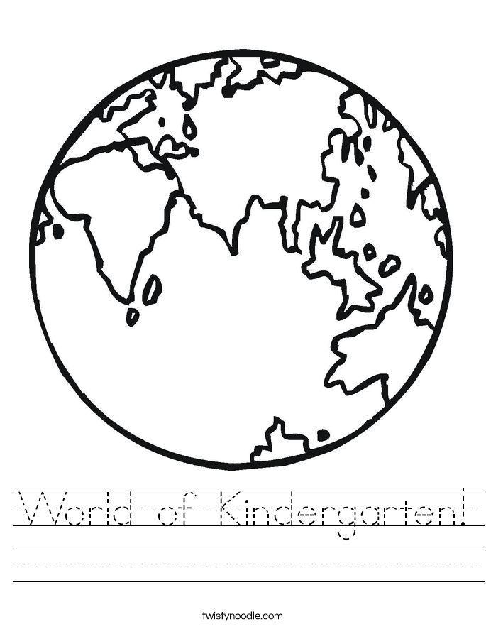 World of Kindergarten! Worksheet