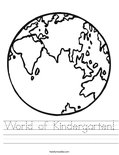 World of Kindergarten! Worksheet