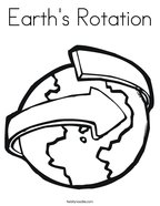 Earth's Rotation Coloring Page