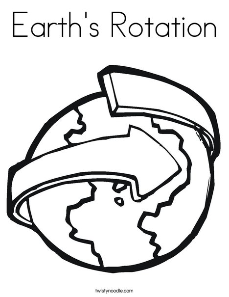 Revolving Earth Coloring Page