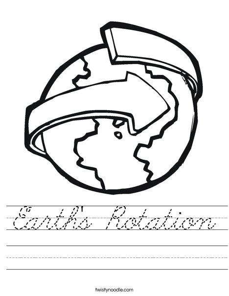 Revolving Earth Worksheet