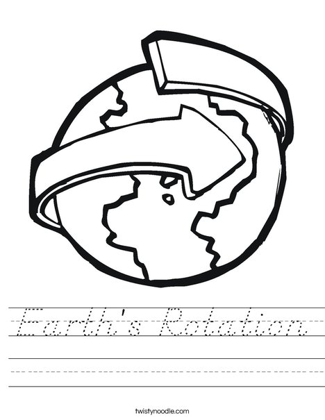earth 39 s rotation worksheet d 39 nealian twisty noodle. Black Bedroom Furniture Sets. Home Design Ideas