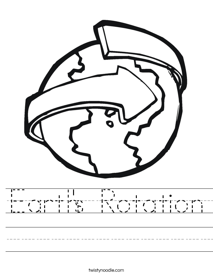 Earth's Rotation Worksheet