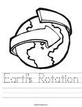 Earth's Rotation Worksheet