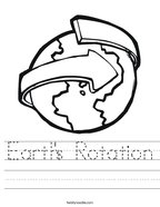 Earth's Rotation Handwriting Sheet