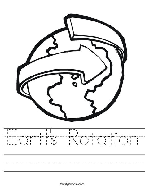 Revolving Earth Worksheet