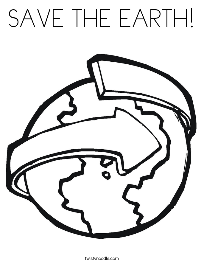 SAVE THE EARTH! Coloring Page