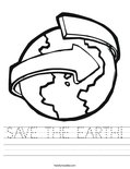 SAVE THE EARTH! Worksheet