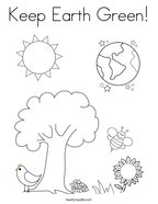 Keep Earth Green Coloring Page