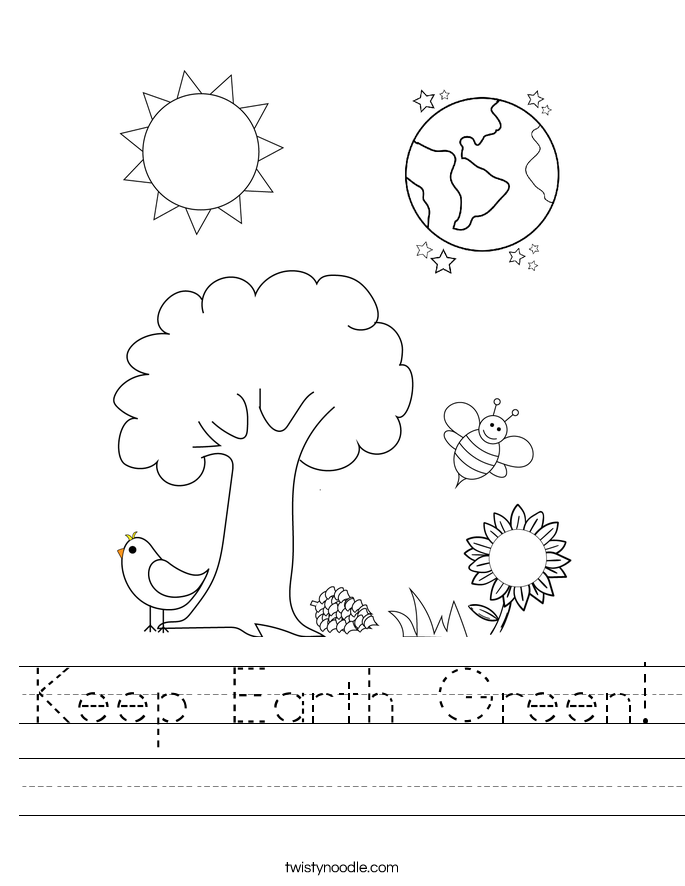 Save The Earth Worksheet Twisty Noodle – Earth Worksheets