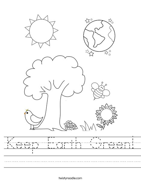 Earth and Flower Worksheet