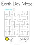 Earth Day Maze Coloring Page