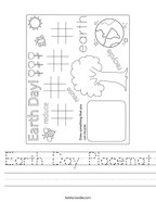 Earth Day Placemat Handwriting Sheet
