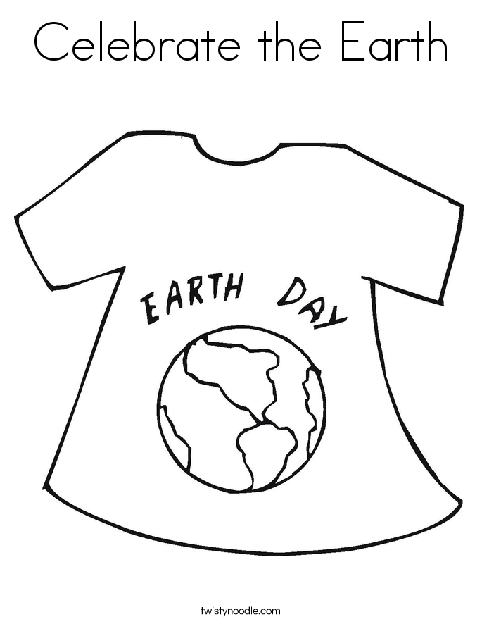 Celebrate the Earth Coloring Page