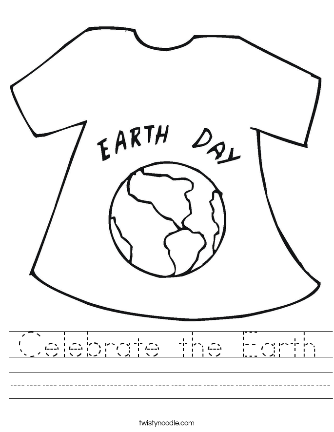 Celebrate the Earth Worksheet