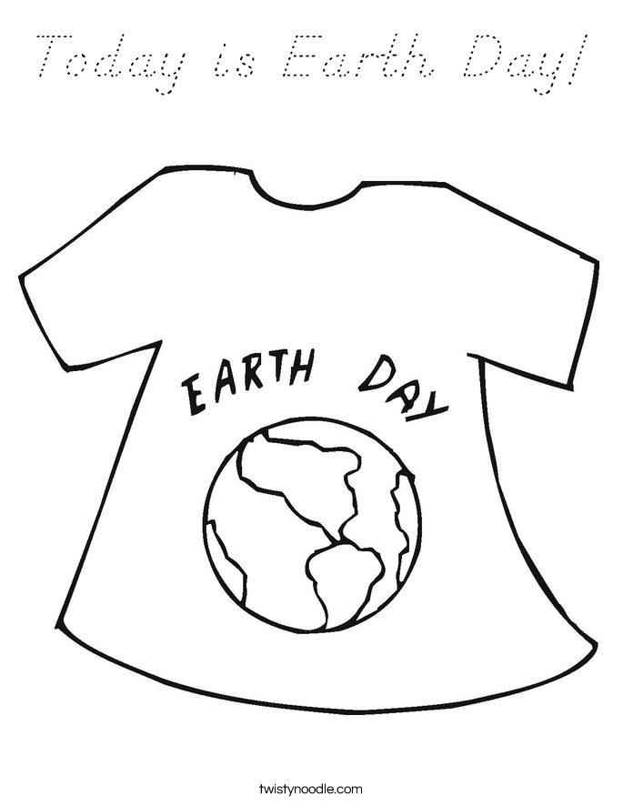 Today is Earth Day! Coloring Page
