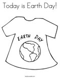 Today is Earth Day!Coloring Page