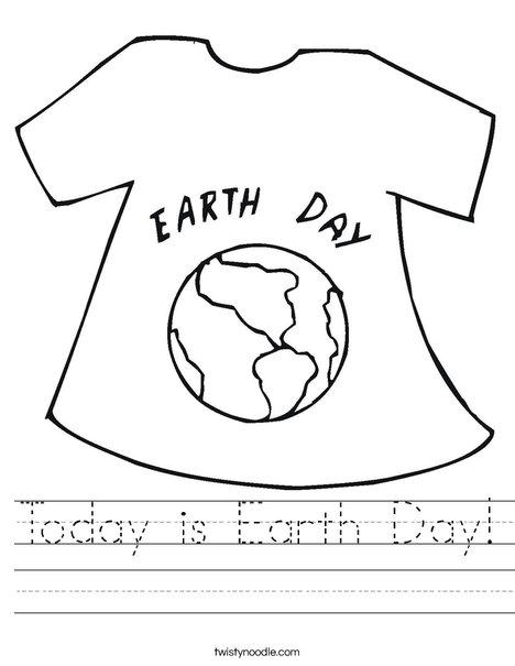Earth Day Shirt Worksheet