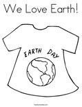 We Love Earth! Coloring Page
