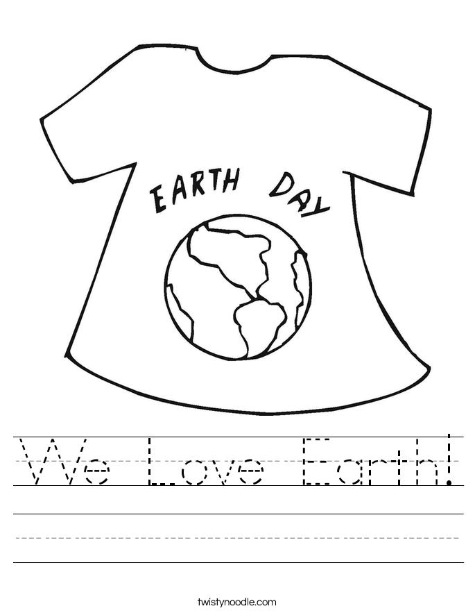 We Love Earth! Worksheet