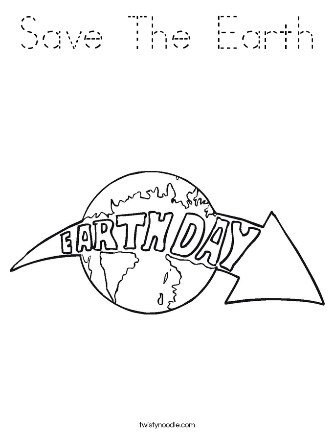 Save The Earth Coloring Page