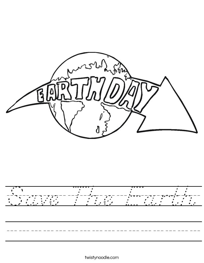 Save The Earth Worksheet