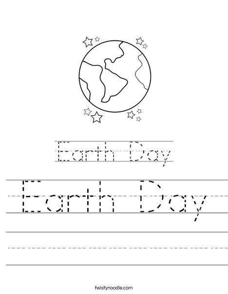 Earth Day with Sun Worksheet