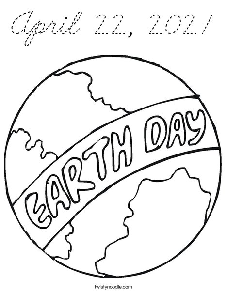 April 22, 2012 Coloring Page