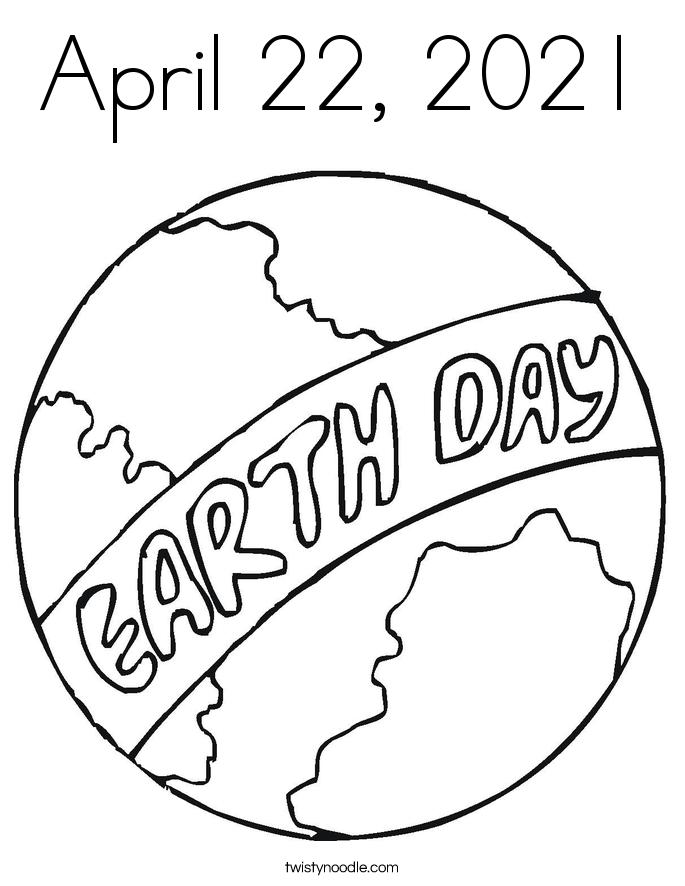 April 22, 2021 Coloring Page