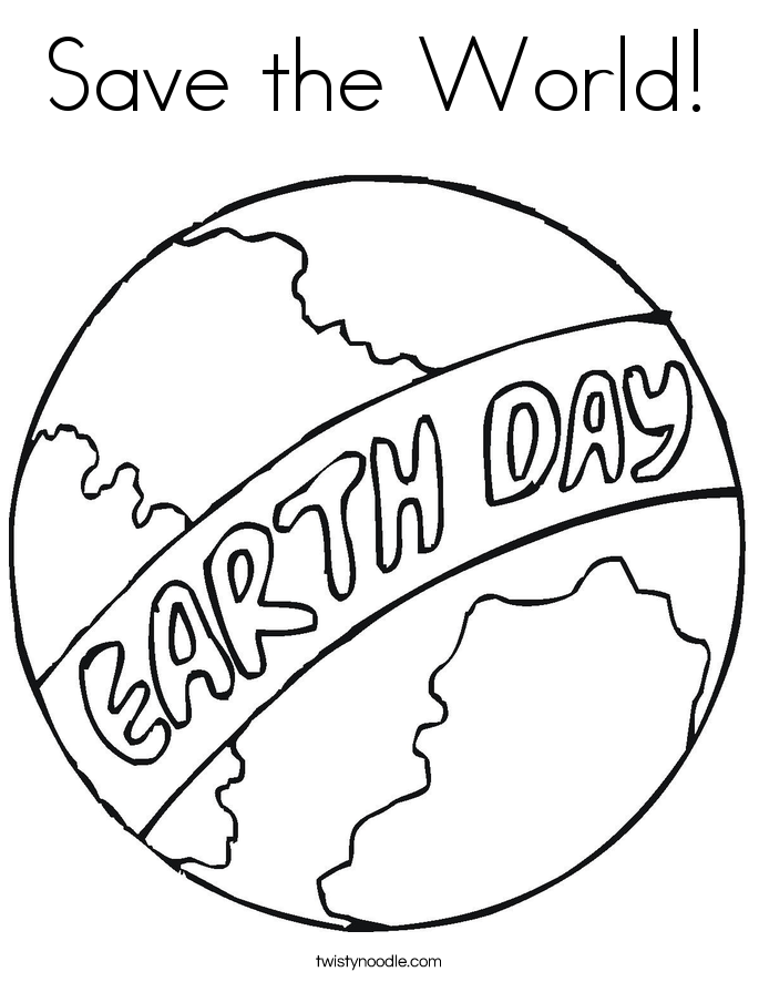 Coloring Sheets For Earth Day Save The Earth Coloring Pages