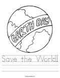 Save the World! Worksheet