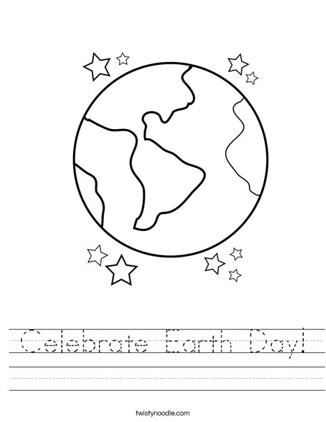 celebrate earth day worksheet twisty noodle. Black Bedroom Furniture Sets. Home Design Ideas