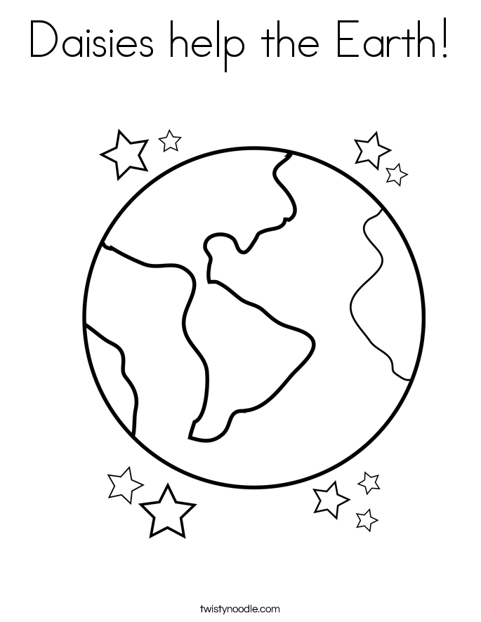 Daisies help the Earth! Coloring Page