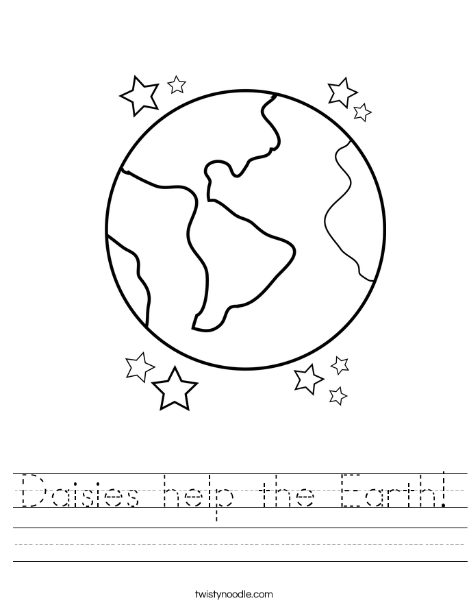 Daisies help the Earth! Worksheet