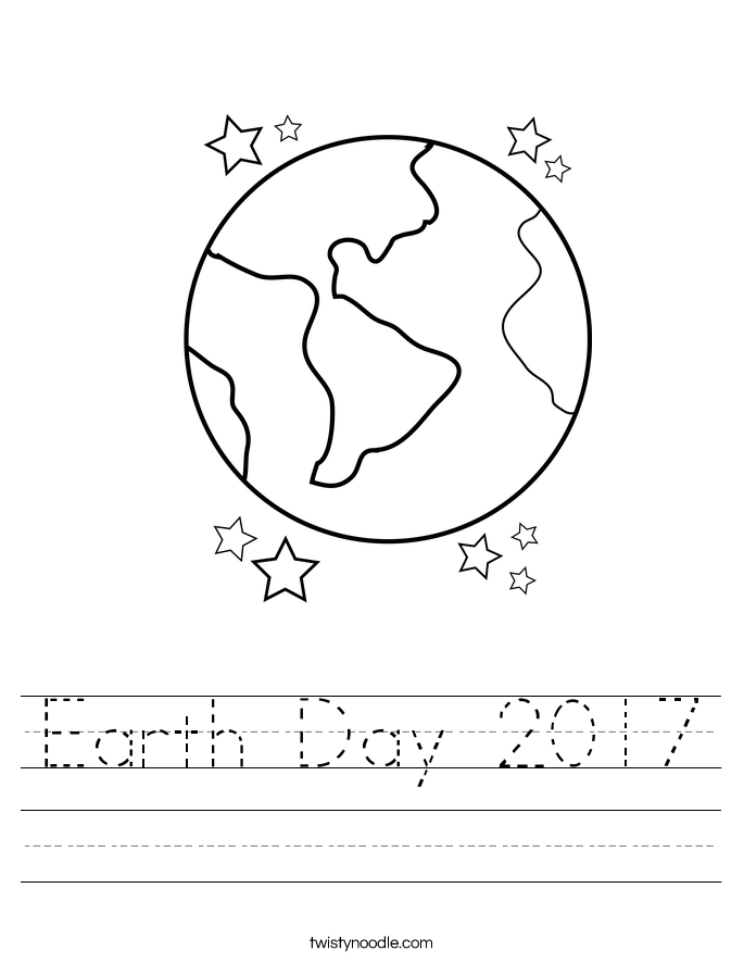 Earth Day 2017 Worksheet