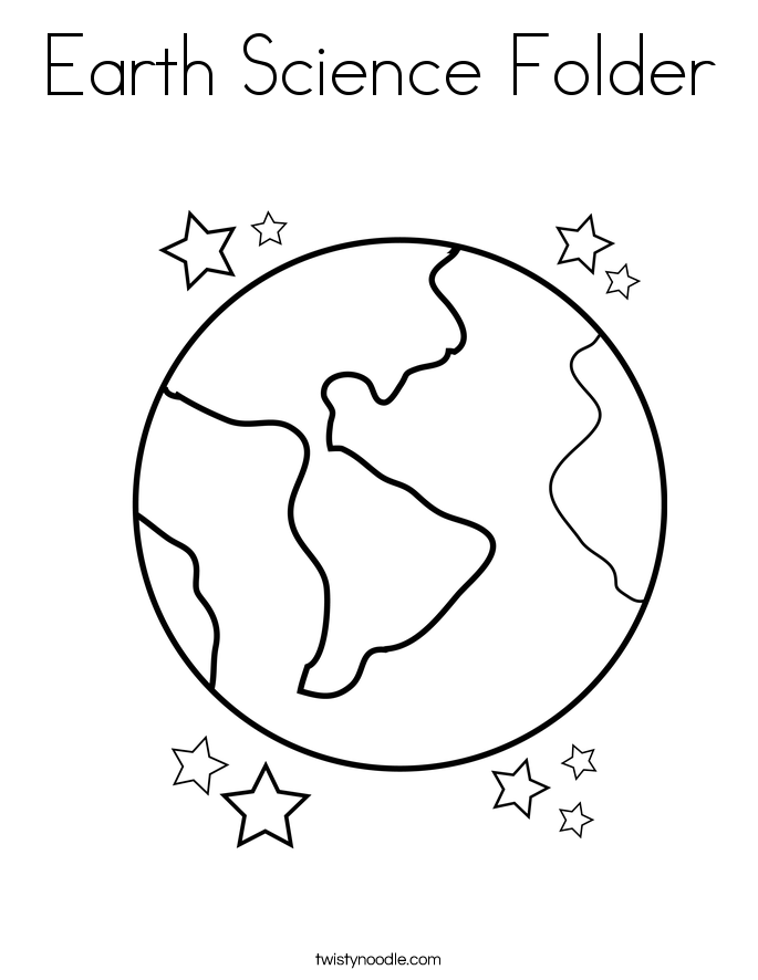 Earth Science Folder Coloring Page