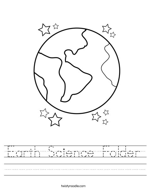 Earth Science Folder Worksheet - Twisty Noodle