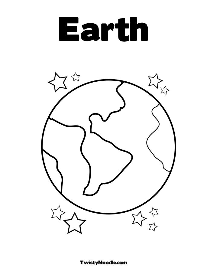 Planet Earth Outline Page 3 Pics About Space Coloring Pages Of The Earth