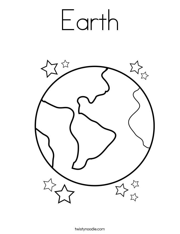 Coloring Pages Of Earth