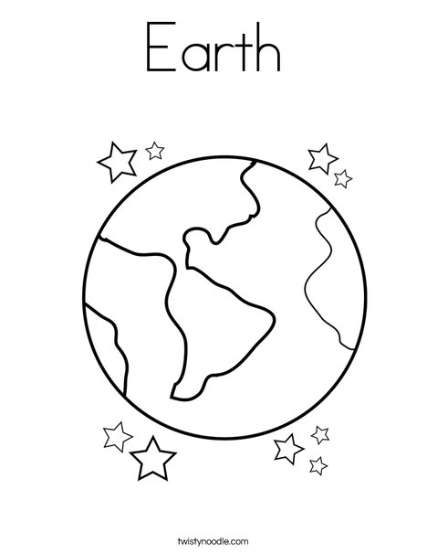Earth Coloring Page - Twisty Noodle