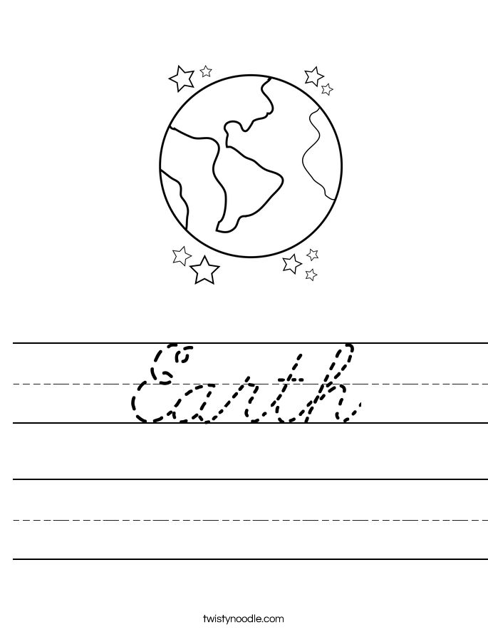 Earth Worksheet