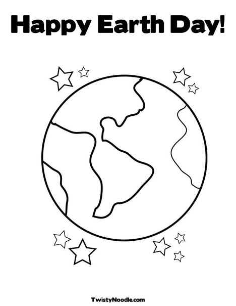 printable earth day coloring pages. Happy Earth Day! Coloring Page