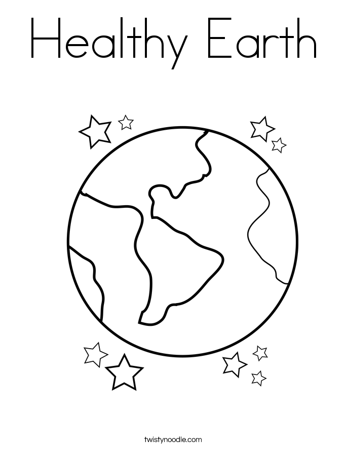 Healthy Earth Coloring Page
