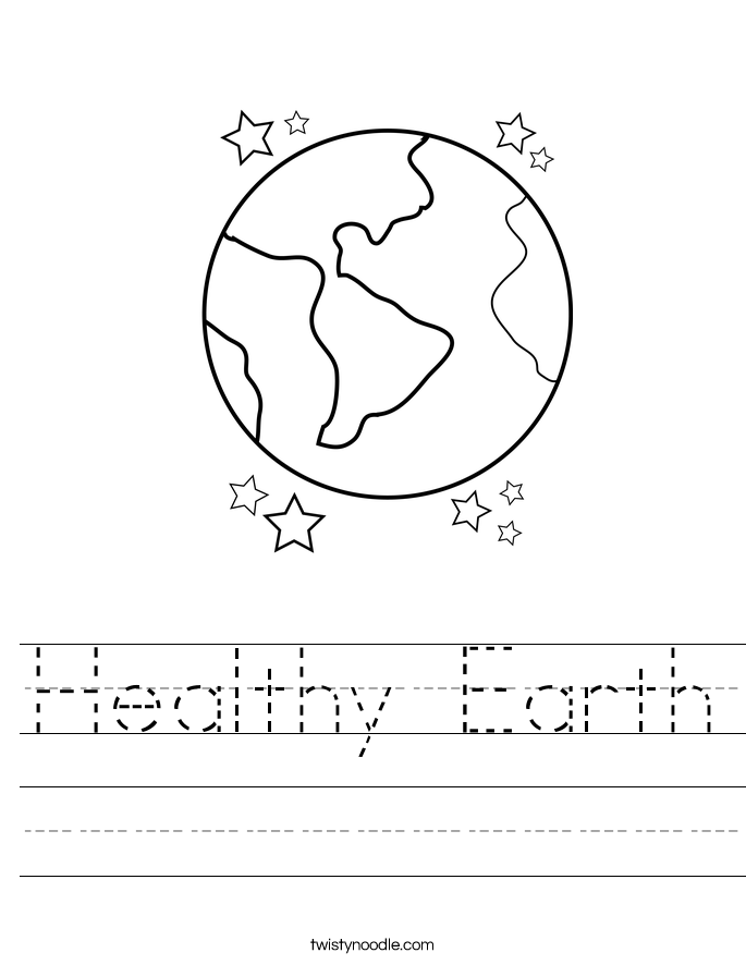 Healthy Earth Worksheet
